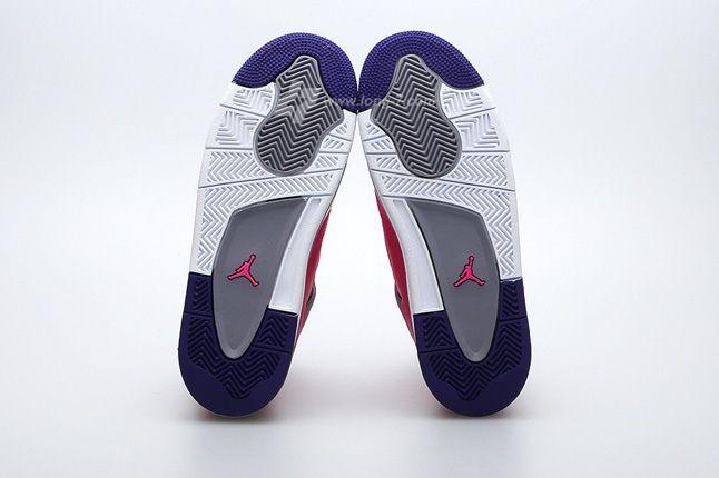 Air Jordan 4 Pink Foil Sole Profile