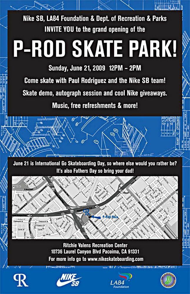 P Rod Skate Park Event 1