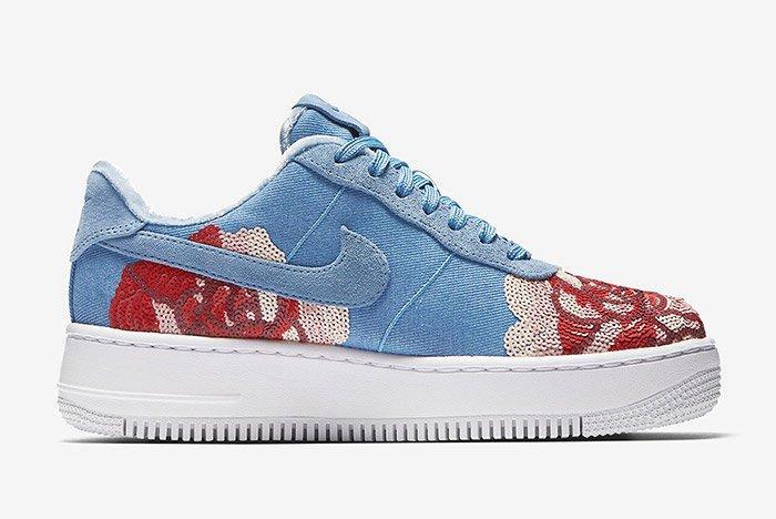 Nike Air Force 1 Denim Floral Seqine 5