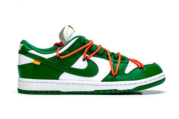 Off White Nike Dunk Low Pine Green Detailed Look 003 Side2