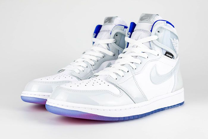 Air Jordan 1 High Zoom R2 T White Racer Blue Ck6637 104 Front Angle Left