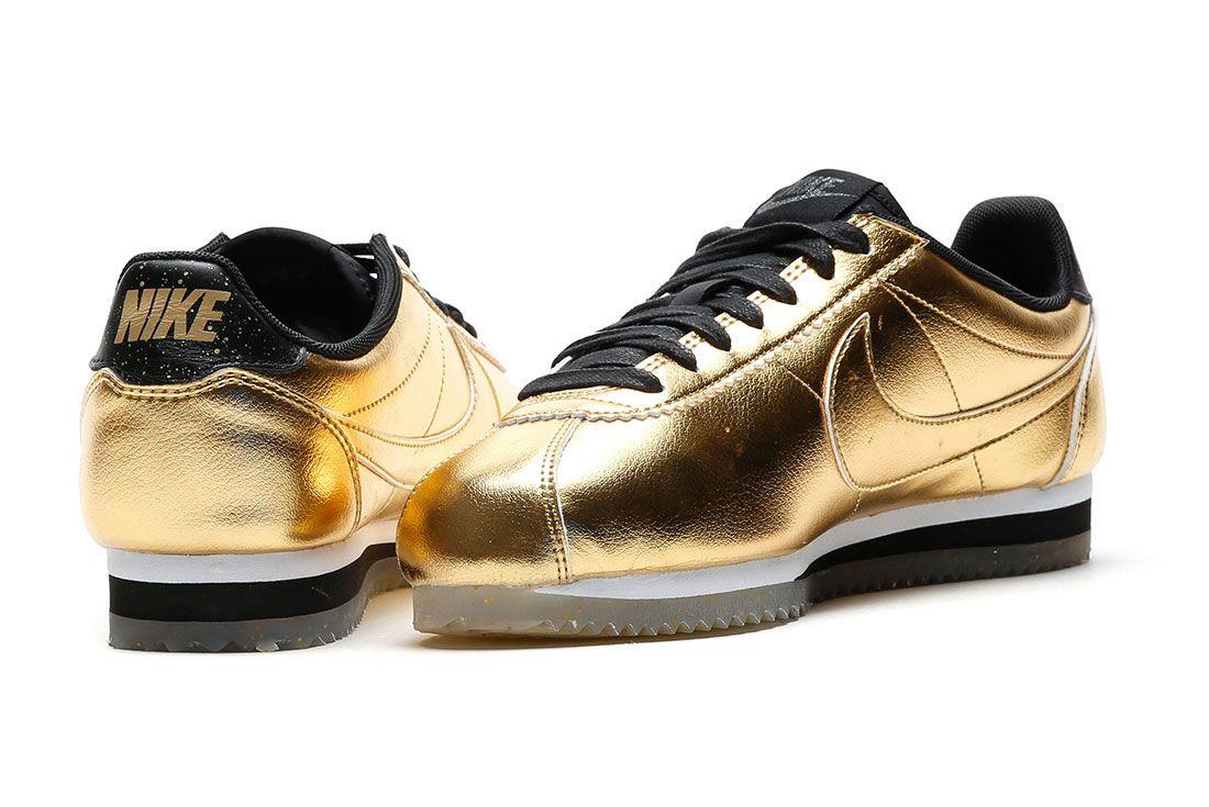 Nike Classic Cortez Leather Metallic Gold 3