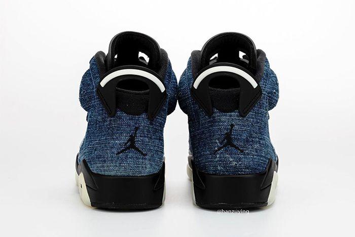 Air Jordan 6 Washed Denim Heel