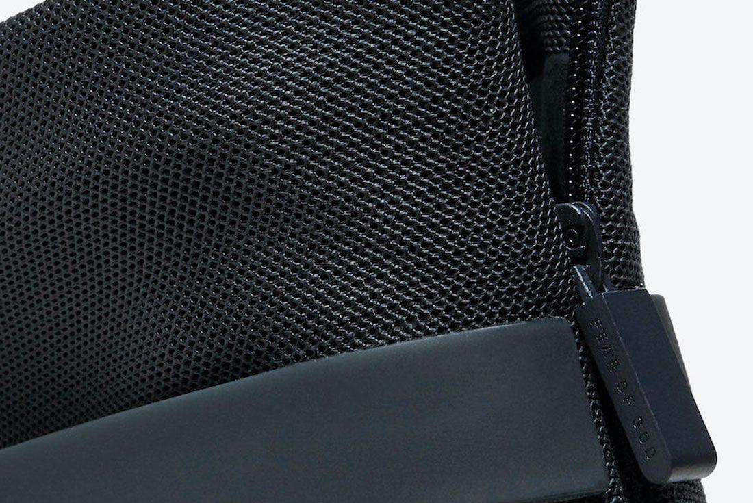 Nike Air Fear of God 1 'Triple Black' AR4237-005 Zip Detail