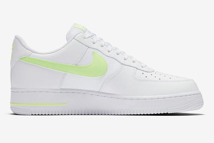 Nike Air Force 1 White Volt Medial