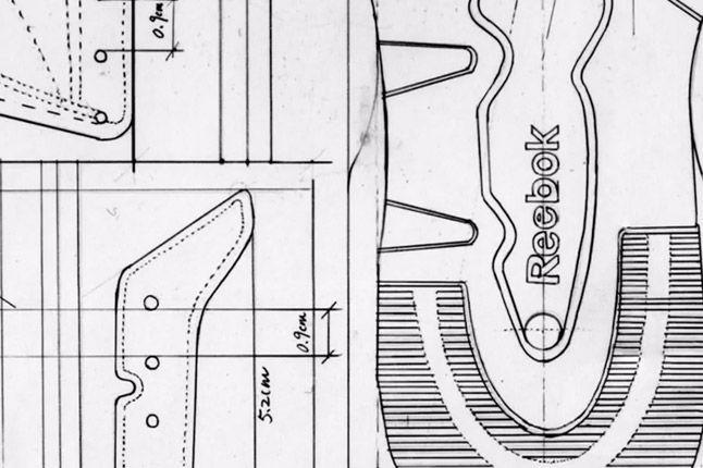 Reebok Classic Leather Blueprint Illustratiopn 1