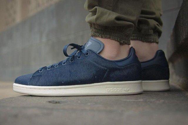 Adidas Stan Smith Blue Fur 5