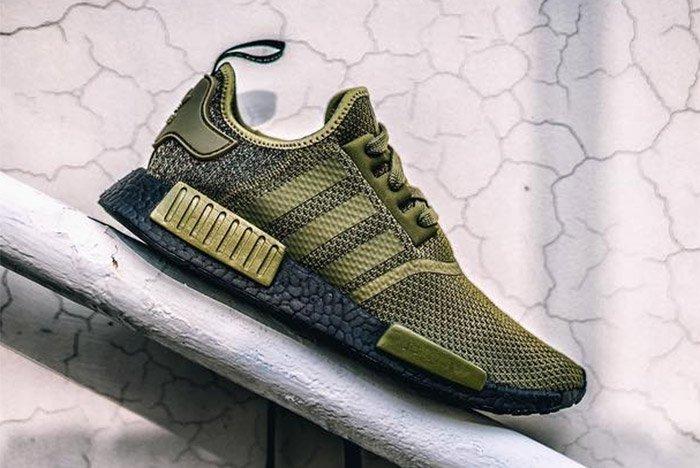 adidas NMD_R1 (Olive/Black) - Sneaker