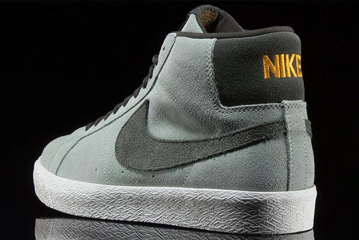 Nike Sb Blazer Mid Jade Horizon 864349 301 Rear Angle