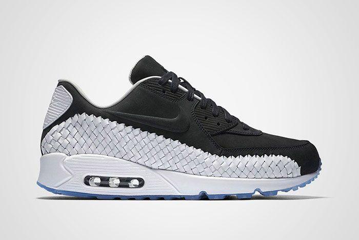 Nike Air Max 90 Woven Black White Thumb