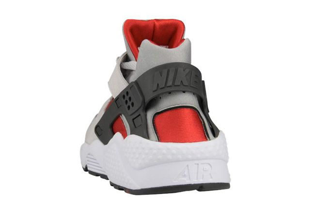 Nike Air Huarache Grey Red Heel 1