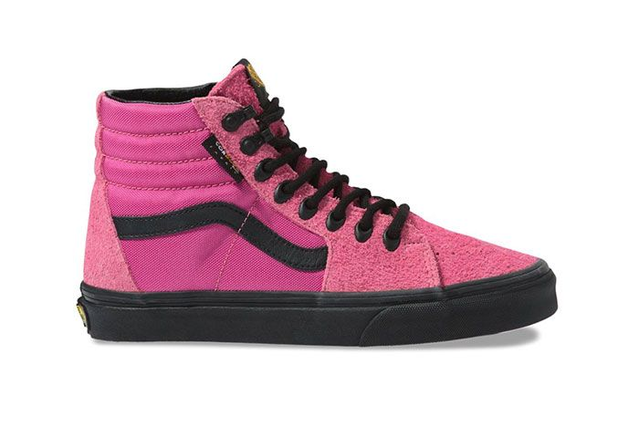 Vans Sk8 Hi Cordura Pink Lateral