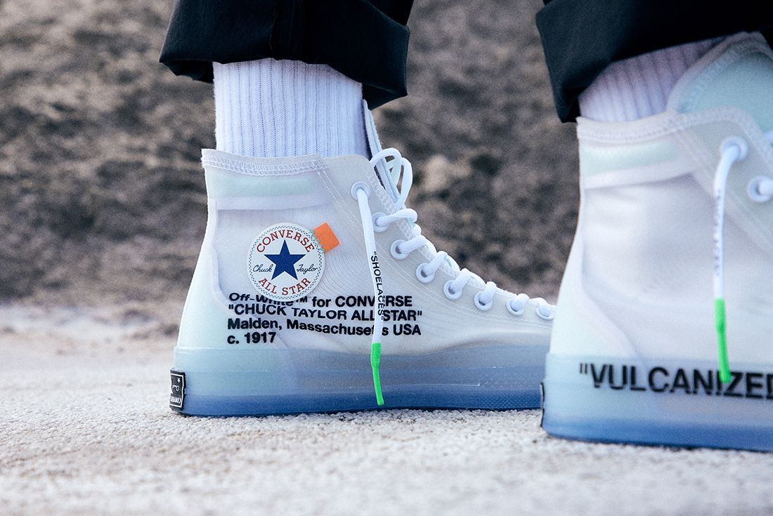 Off White X Converse Chuck 70 On Foot 1