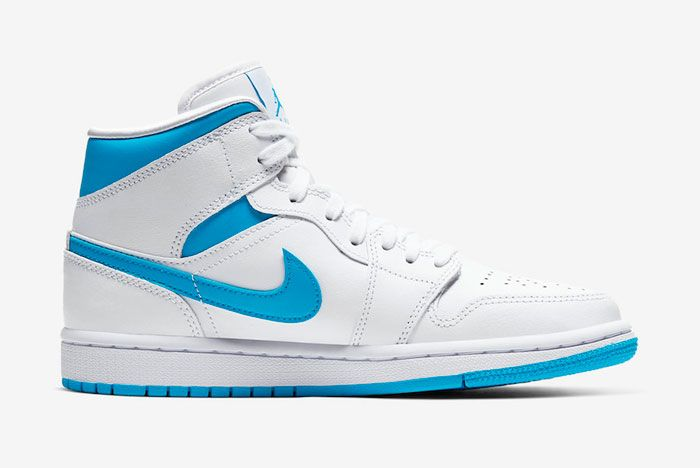 Air Jordan 1 Mid Unc Bq6472 114 Medial Side Shot