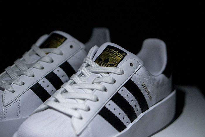 Adidas Superstar Bold White Black Womens 1