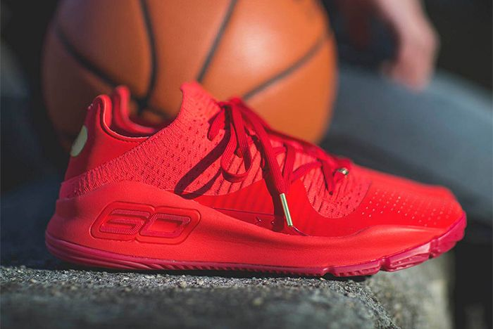 Under Armour Curry 4 Red Sneaker Freaker