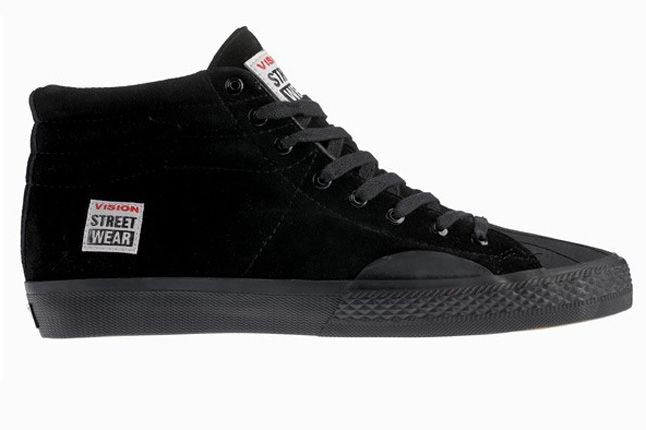 Vision Street Wear Suede Hi Black Side 1