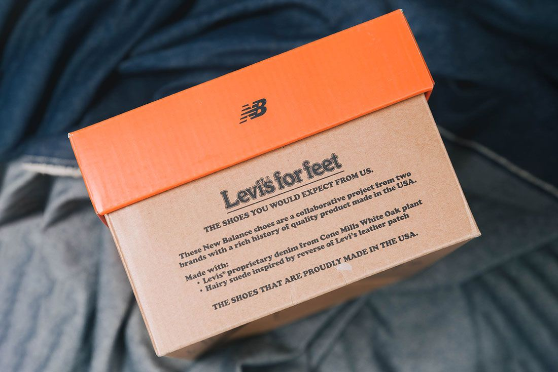 Up There New Balance M1300Lv Levis Box Label Text