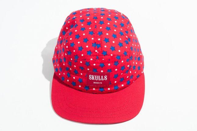 Skulls Spring 5Panel Red Bluestars 1