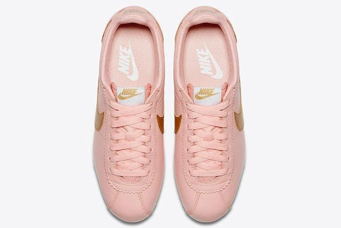Nike Classic Cortez Pinkarctic Orange Metallic Gold Womens 4