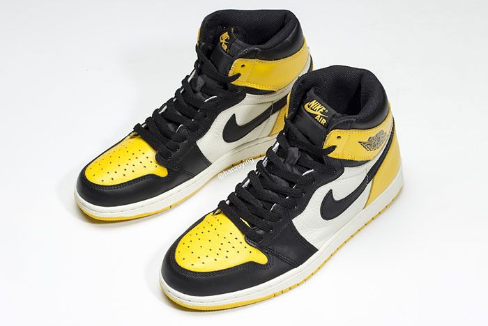 Air Jordan 1 Yellow Toe Ar1020 700 Release Date Pair4