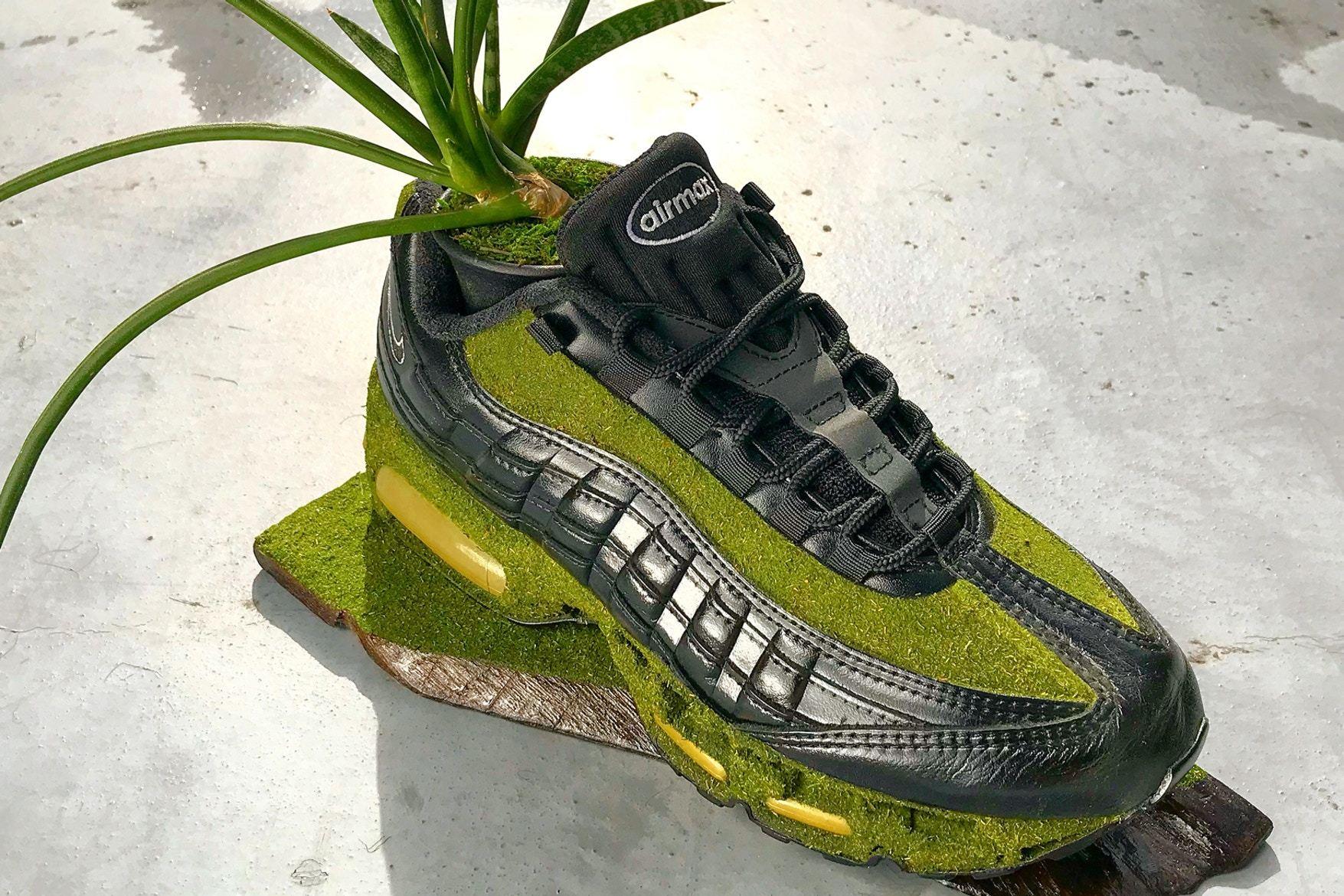 Artist Shoetree Nike Sneakers Sculptural Houseplants 11