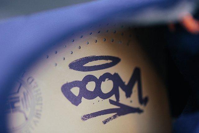 Doom Clarks Wallabee Boot Navy Bumper 7