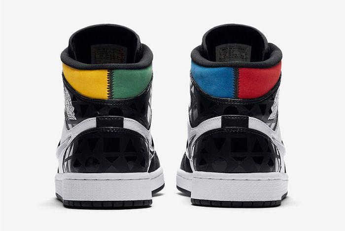 Air Jordan 1 Mid Quai 54 Release Date Heel