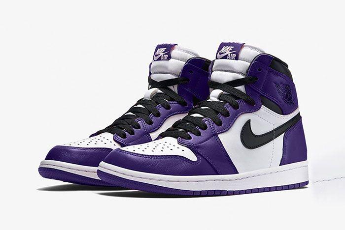 Air Jordan 1 Court Purple 555088 500 2020 Release Date Mock Up