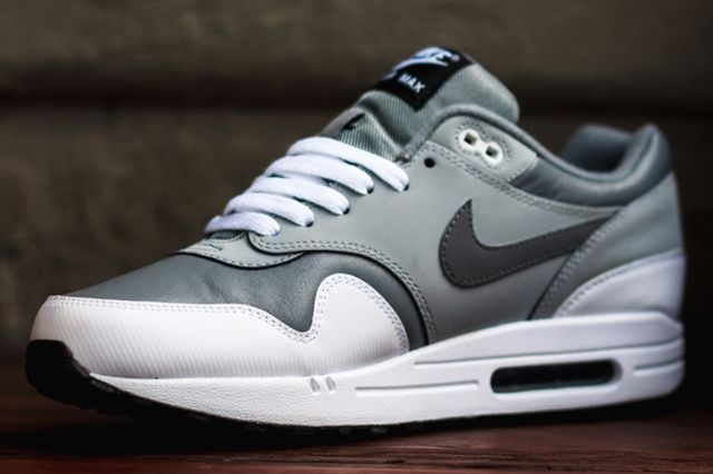 Nike Air Max 1 Leather Cool Grey Wolf Grey 1