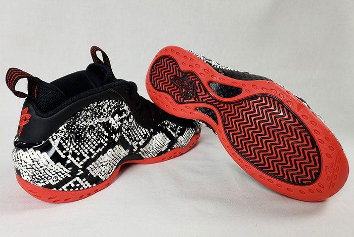 Nike Air Foamposite Snakeskin 314996 101 Heel Angle Shot 5