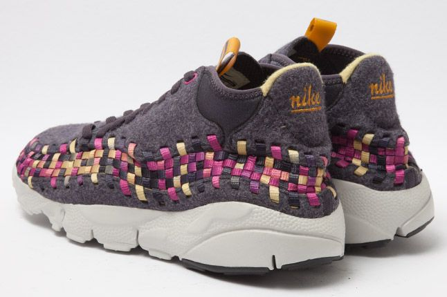 Nike Footscape Woven Chukka Gold Purple Wool Heel 1