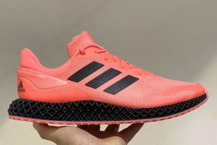 Adidas Futurecraft 4 D Solar Red Black In Hand