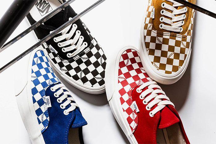 Vans Vault Og Authentic Lx Checkerboard Group Top Shot