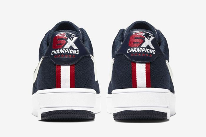 Nike Air Force 1 Flyknit New England Patriots Heel