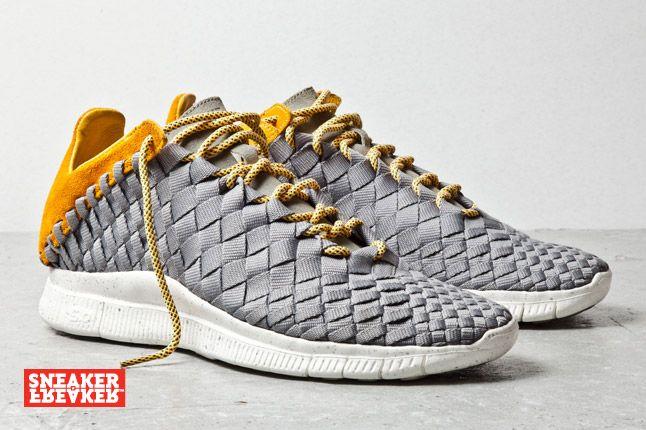 Nike Free Inneva Woven Mine Grey Laser Orange 2 1