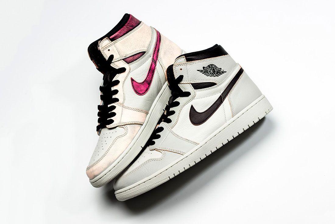 Nike Sb Air Jordan 1 Grey Pink Side Shot 1