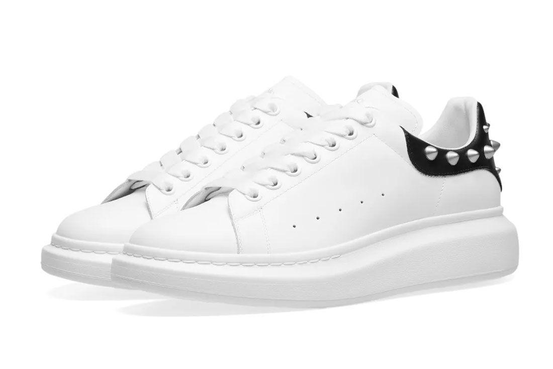 Alexander  Mcqueen  Stud  Sneaker  Front  Angle