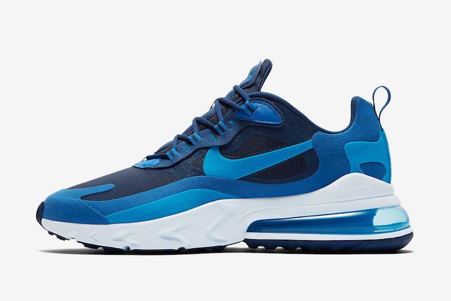 Nike Air Max 270 React Blue Void Ao4971 400 Lateral