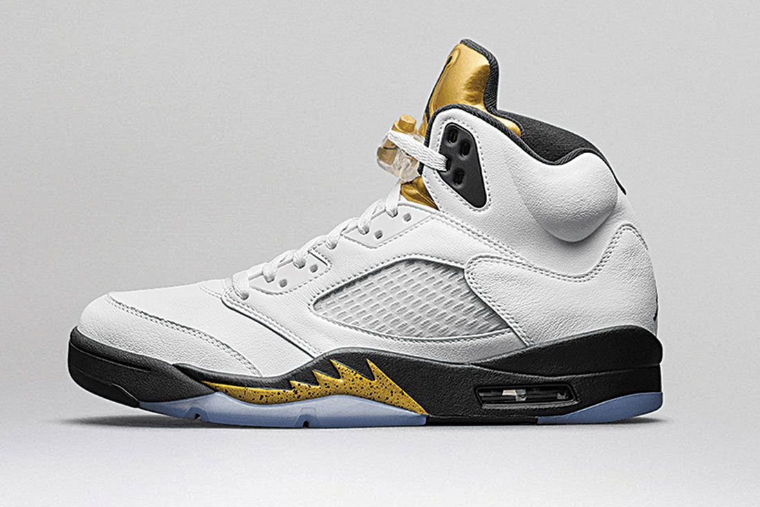 Air Jordan 5 Olympic Gold Left