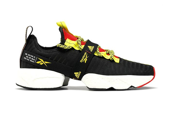 Adidas Reebok Sole Fury Boost Black Hyper Green Red Fw0167 Release Date Lateral