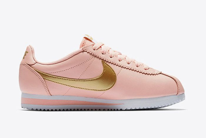 Nike Classic Cortez Pinkarctic Orange Metallic Gold Womens 5