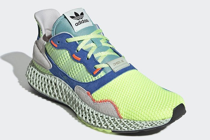 Adidas Zx 4000 4 D Easy Mint Ef9623 Front Angle