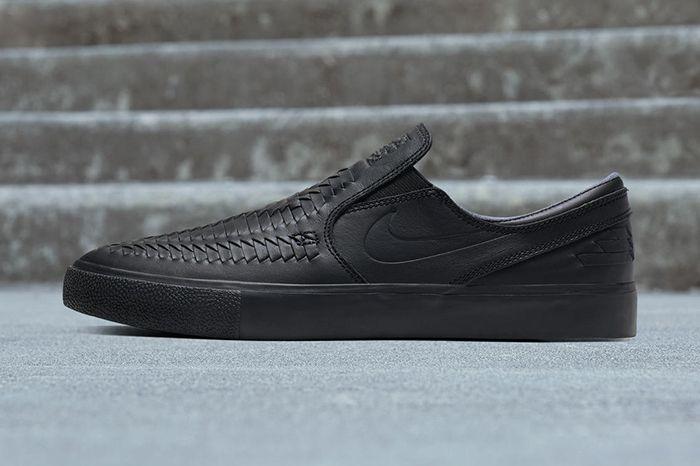 Nike Sb Zoom Stefan Janoski Woven Slip Rm Black Release Date Lateral