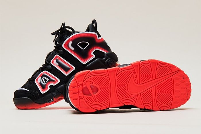 Nike Air More Uptempo Laser Crimson Sole