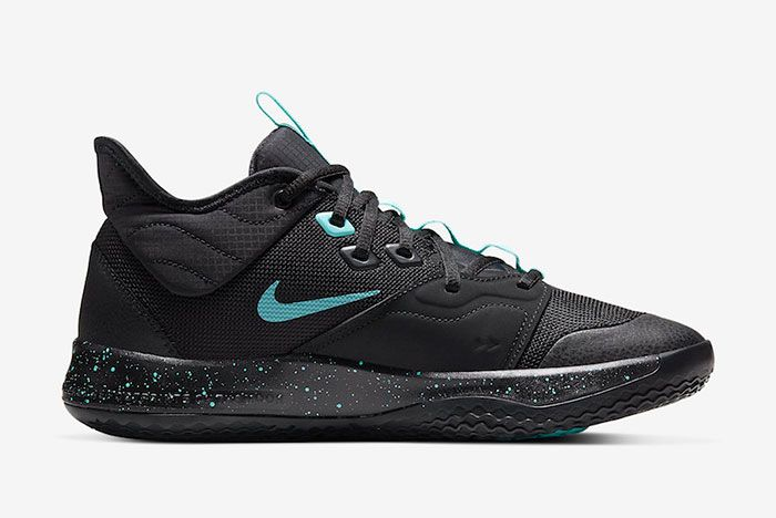 Nike Pg 3 Black Light Aqua Ao2607 006 Release Date Price 2 Side