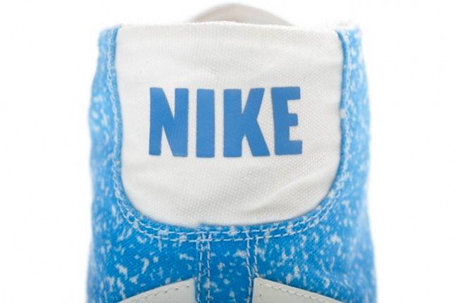 Nike Blazer Mid Decon Canvas Light Blue Heel 1