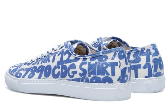 Comme Des Garcons Shirt X The Generic Man Print Sneaker Angle 1