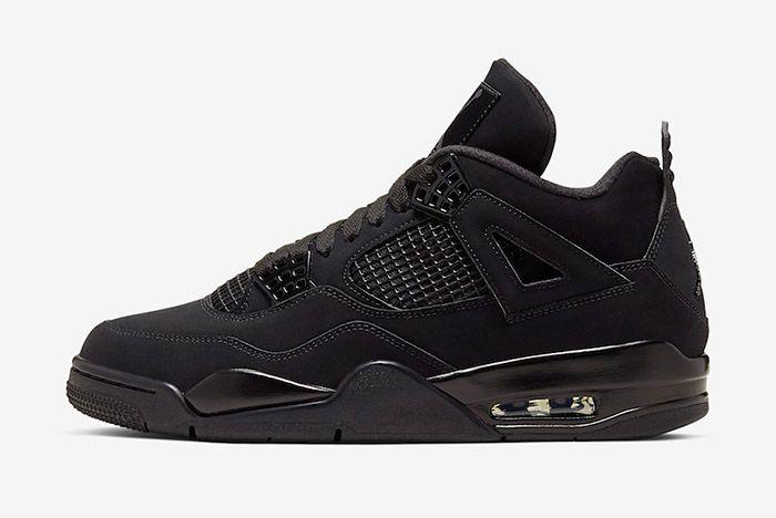 Air Jordan 4 Black Cat Cu1110 010 2020 Lateral