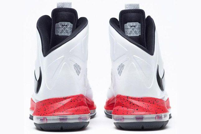 Nike Lebron X Id White Red Heel 1